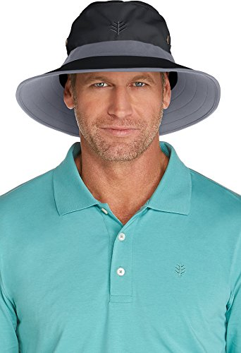 Coolibar UPF 50+ Men's Matchplay Golf Hat - Sun Protective (Large/X-Large- (Reversible Uv Protection Hat)