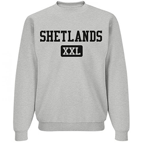Comfy Shetlands Mascot XXL: Unisex Jerzees NuBlend Crewneck Sweatshirt