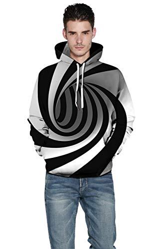 Yimiao Tourbillon Capuche Sweats Sweatshirt Pull Prints 3d D'impression Multicolore Patterned Unisex À Hoodie Personnalité wRa6nWqRT