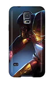 Best Unique Design Galaxy S5 Durable Tpu Case Cover Iron Man