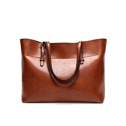 Orizzontale Marrone Borsa Grande Pelle Coolives Caffè Pu Tote Donna 4On7wxZw