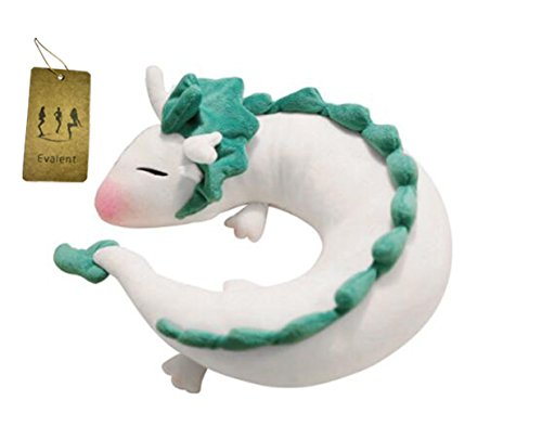 Evalent Anime Cute White Dragon Doll Plush Toy Japanese Animation Pillow Neck U-Shape White