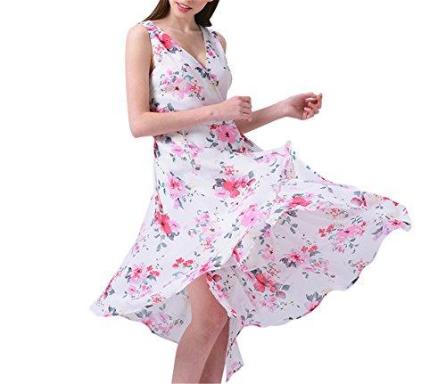 Venetia Morton V-neck Bohemian Floral Print Dress Plus Size 7XL Sleeveless Beach Stretchy picture - Mall Pictures Edmonton