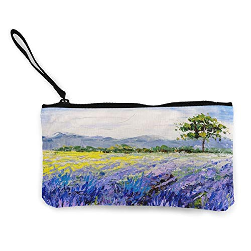 Terany Canvas Pencil Case - Oil Painting Farm Durable Cosmetic Makeup Bag Zipper Closure Coin Purse Wallet Phone Pouch with Handle for Kids Adults]()