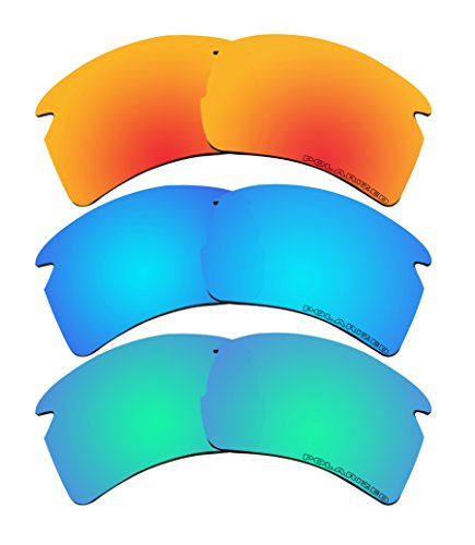 3 Pairs Replacement Lenses Polarized K2 for Oakley FLAK 2.0 XL - 08 Oo9188