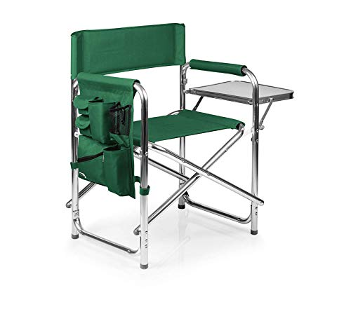 Premium Portable Folding Sports Chair, Hunter Green