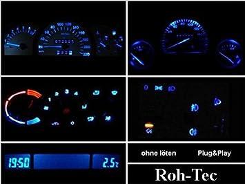 Blaues MID//TID-Display Opel Astra G Agila Zafira
