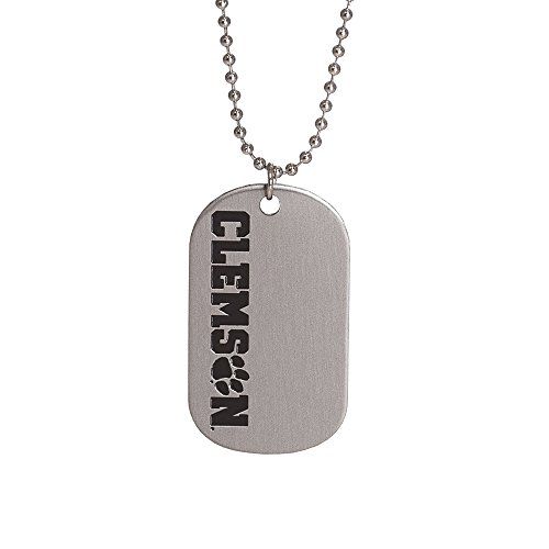 - Fan Frenzy Gifts NCAA Clemson University Dog Tag & Ball Chain Necklace