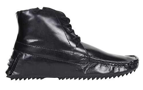 Crocodile Brand Mens Boot Genuine Leather Biker Short Black Boots