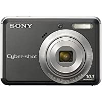 Sony Cyber-shot® DSC-S930 10-MP Digital Camera with 3x Optical Zoom, 2.4 LCD, Image Stabilization, Face Detection (Black)