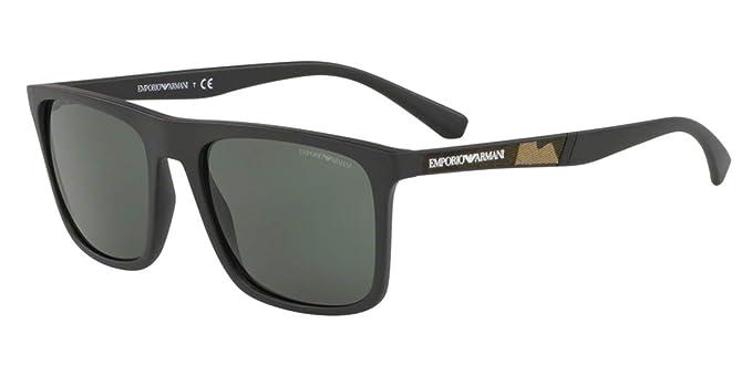 Emporio Armani 0EA4097 Gafas de sol, Matte Black, 56 para ...