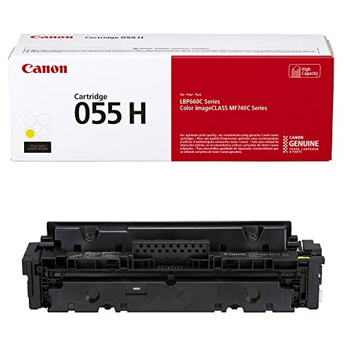 Laser Yellow Cartridge Capacity - Cartridge 055 Yellow High Capacity - Yields up to 5,900 Pages