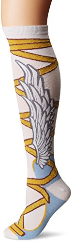 K. Bell Women's Novelty Knee High, White Winged Sandals, 9-11 ()