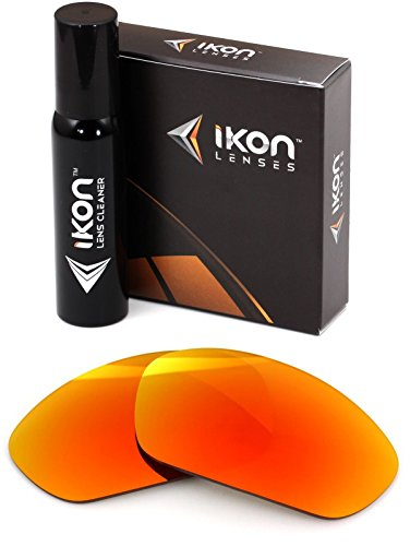 Polarized Ikon Iridium Replacement Lenses For Oakley Juliet Sunglasses - Fire Orange - Glass Sunglasses Replacement