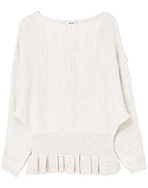 Mango Women's Ruffled Sweater