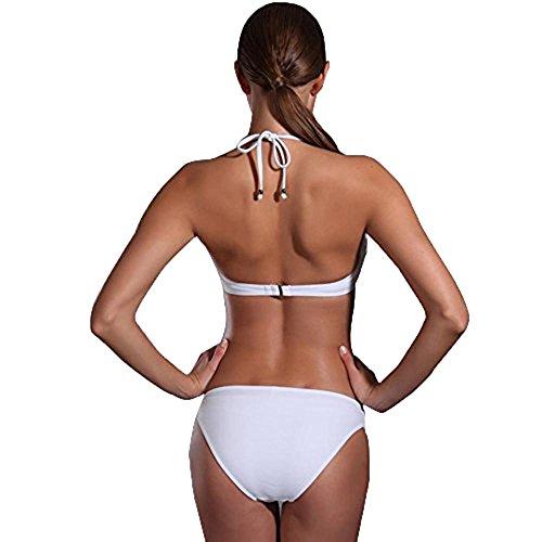 Traje de baño Push-on de mujer Sling Bikini Blanco White