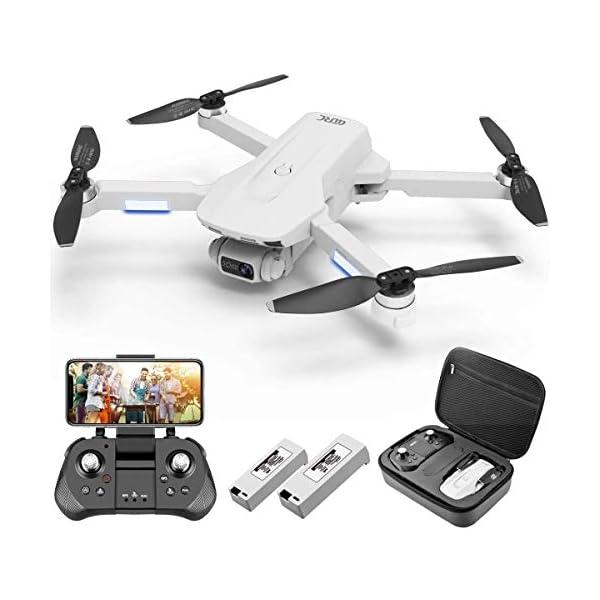 4DRC F8 Drone con Telecamera 4K UHD Drone GPS Pieghevole FPV RC con Ritorno Automatico a Casa, modalità Ritorno Home,Seguimi, Controllo Gestuale, 2 Batterie per 40 Minuti Volo e Valigetta da Trasporto 1 spesavip