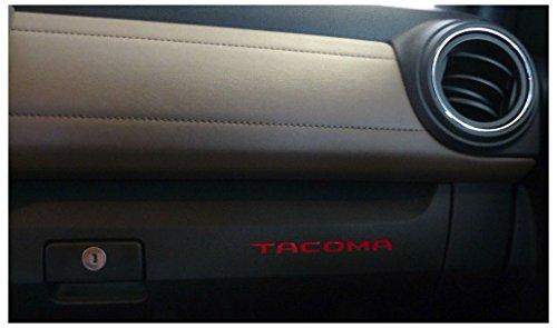 Premium Vinyl Glove Box Insert Decals 2016-2018 Tacoma (Barcelona red) ()