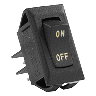 JR Products (12591-5 Black/Sliver 12V On/Off Switch, (Pack of 5): Automotive