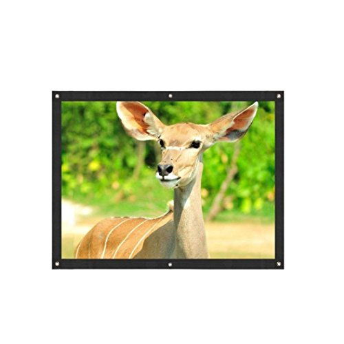 Iuhan Hot Sale Projection Screen, Projection Screen Portable Fabric Foldable 3D HD For Home Theater Outside (C)