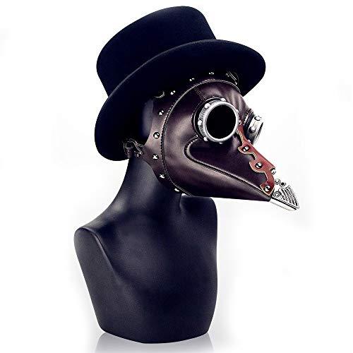 KTYX Steampunk Halloween Plague Beak Doctor Mask mask ()