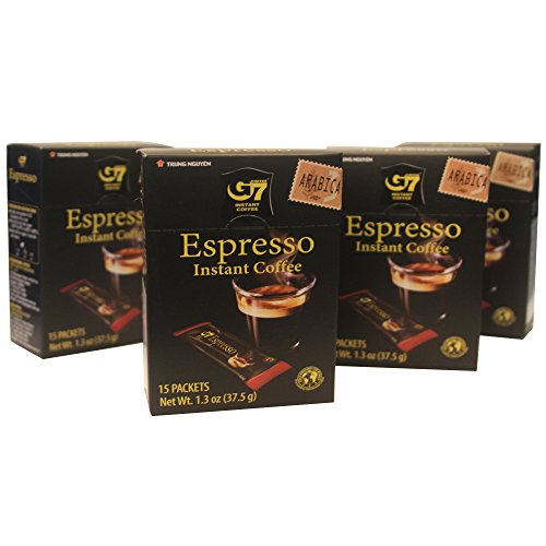 G7 New Arabica Espresso Vietnamese Coffee, 5.2oz(150g), 60 Sticks