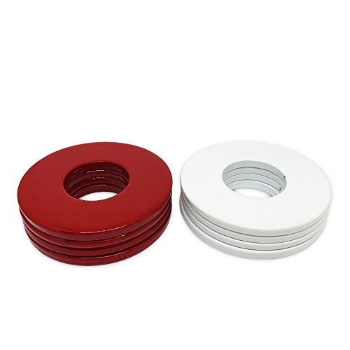 (BoltsandNuts (8) Powder Coated Replacement 2-1/2 Washer Toss Pitching Game Washers - High)
