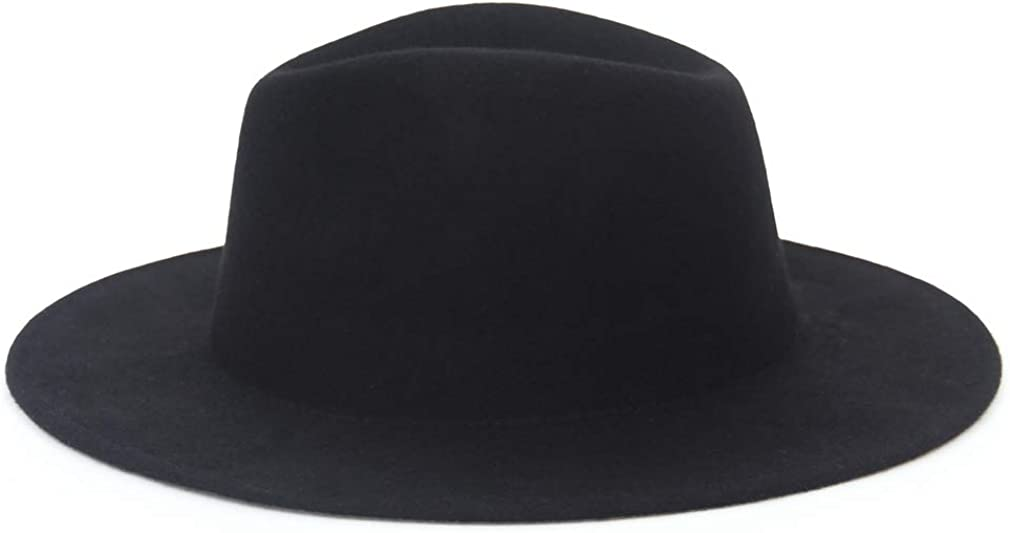 EOZY-Cappello Panama Jazz Trilby in Lana Decorazione Bump Top Fedora Uomo Unisex Classico Vintage Berretto in Feltro Cappellino da Esterno
