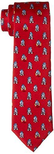 Star Wars Men's R2D2 All Over Tie, Red, One Size (Star Wars Tie)