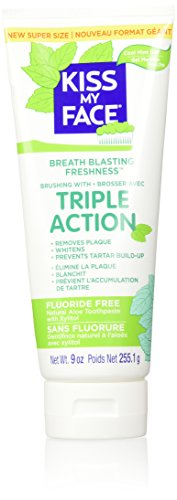 Kiss My Face Triple Action Toothpaste, Fluoride Free, 9 Ounce