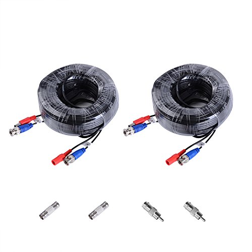 ANNKE (2) 30M /100Feet BNC Video Power Security Camera Cable for HD CCTV Surveillance DVR System Installation