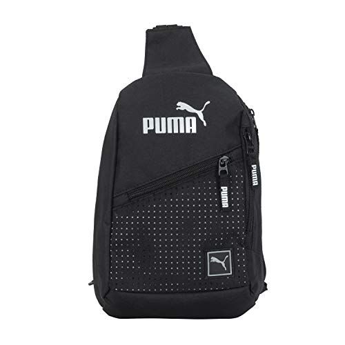 PUMA Sling Backpack, Black/Silver, One Size