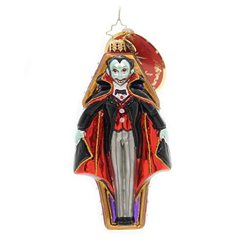 Christopher Radko Radko Vamping Up Vampire in Coffin Glass Ornament Halloween Made in Poland ()