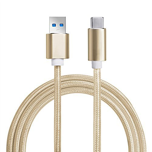 USB Type C Cable, Y&Z Type C 3.1 to USB Type A 3.0 Super Speed USB-C to USB 3.0 Cable with Braided (3.3ft) - Gold by YZ Gadget