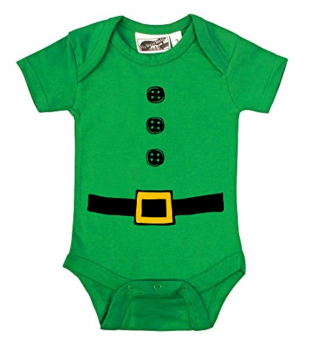 [Green Elf Christmas One Piece (6 Months)] (Elf Outfit For Women)