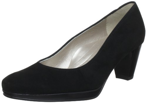 Ara Women's Macaw Dama Balleras Boat It Long Velor Black Leder Uniform Dress Shoes 37.5 by ara