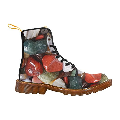 Zapatos D-story Colorful Stones Lace Up Martin Botas Para Mujeres