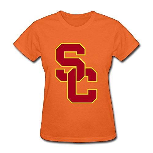 Women Nerd Slim Fit USC Football Shirt XXXX-L Orange