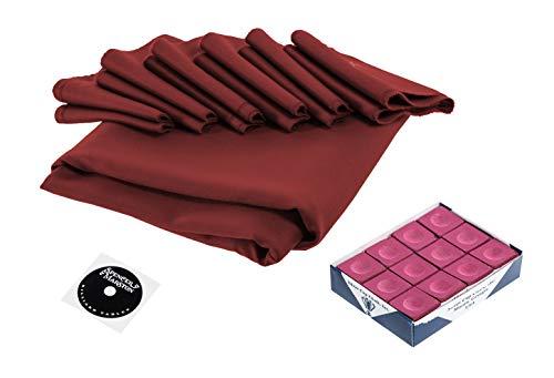 Simonis 860 Burgundy Cloth - Spencer Marston Simonis 860 Pool Table Cloth Set 8 ft, Burgundy
