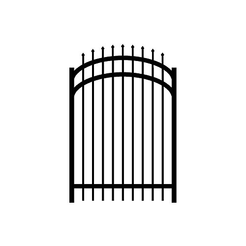 Arched Garden Gate (Jerith Washington 4 ft. x 5 ft. Single Walk Aluminum Black Arched Gate)