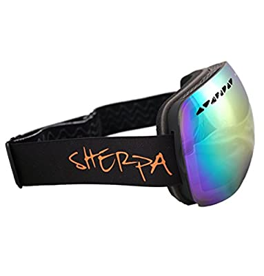 #1 Ski Snowboard Goggles PRO - FLASH SALE 50% Discount - Frameless Spherical Lens Snow Goggles For Men & Women 100% UV Protection.