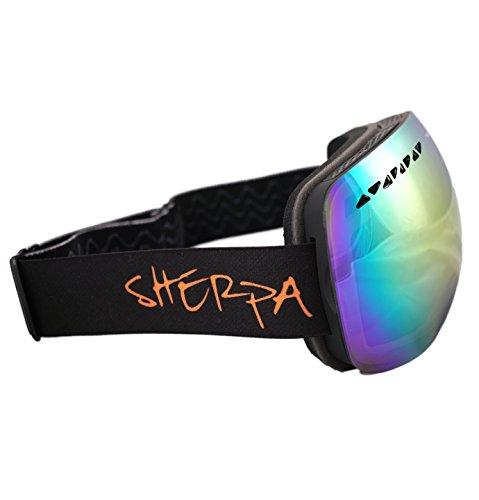 #1 Ski Snowboard Goggles PRO - FLASH SALE 50% Discount - Frameless Spherical Lens Snow Goggles For Men & Women 100% UV Protection.