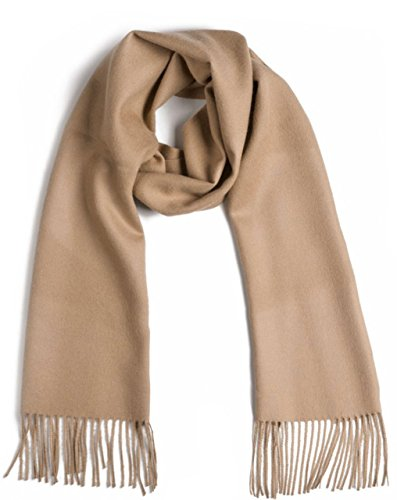 Baby Natura Wool Pure (Luxurious 100% Premium Baby Alpaca Scarf - Ultimate Softness - for Men and Women (Fawn))