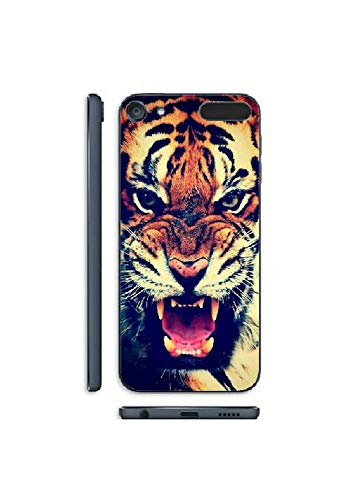 Hard Plastic Abstract Animal & Quote Case Cover for iPod Touch 5th & 6th Gen (Growling - Growling Tiger