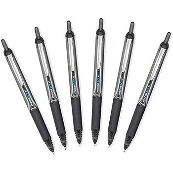 Pilot Precise V7 RT Retractable Rolling Ball Pens, Fine Point, Black Ink, 6 Pack