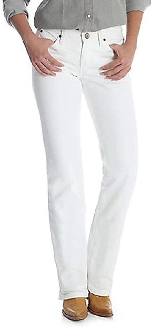 Wrangler Women's Cash Mid Rise Vented Hem Ultimate Riding Jean (White ,  15 x 36L)
