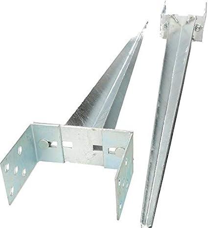 KOTARBAU Soporte para postes 0 – 160 mm, ajustable, galvanizado en caliente, soporte para postes, soporte para suelo, soporte para suelo, soporte para postes, ancla, acero plateado: Amazon.es: Bricolaje y herramientas