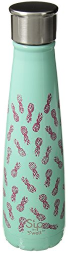 Pineapple Water (S'ip by S'well Vacuum Insulated Stainless Steel Water Bottle, Double Wall, 15 oz, Pineapple Bliss)