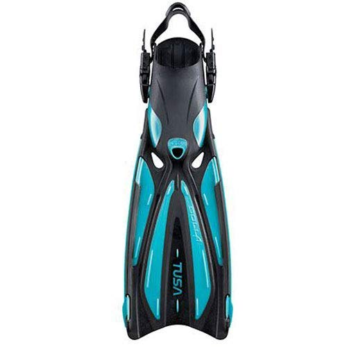 TUSA SF-22 Solla Open Heel Scuba Diving Fins, X-Small, Ocean Green