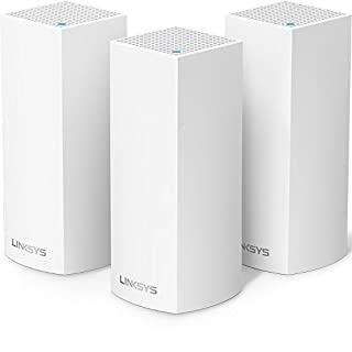 Linksys Velop Tri-Band Home Mesh WiFi System - WiFi Router/WiFi Extender for Whole-Home Mesh Network (3-pack, White) (B01N2NLNEH) | Amazon Products